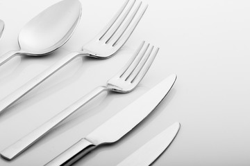 Cutlery set with fork knife and spoon