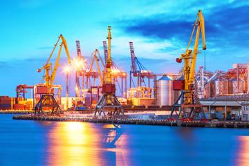 Freight port sea terminal