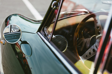 Detail of vintage sports car