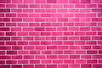 New perfectly red brick wall background. Best clean brick wall. Close up. Front view.