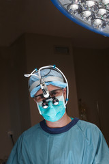 Portrait of a surgeon with vision system technology