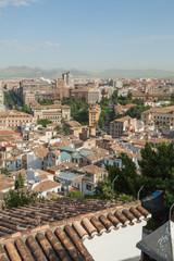 View across Granada Spain.