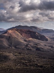 Volcano inside Lanzarote's Timanfaya National Park
