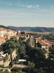 Scenic, travel and rural views in San Antimo, Tuscany, Italy