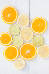 Citrus fruits on the table