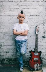 Portrait of a young Punk