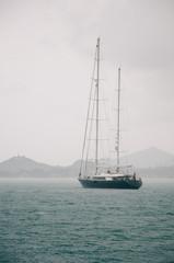 Sailboat on a Rainy Day