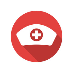 Nurse hat flat icon