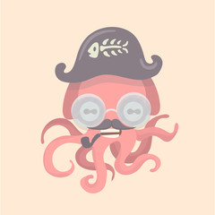 Cute octopus cartoon.
