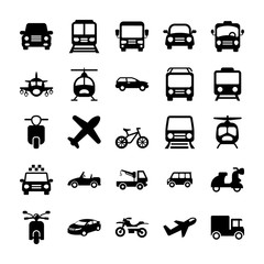 Automobile Glyph Vector Icons 1