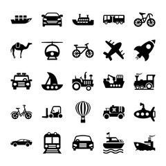 Automobile Glyph Vector Icons 2