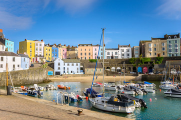 Old Town Tenby, Wales, on a Clear Spring Day