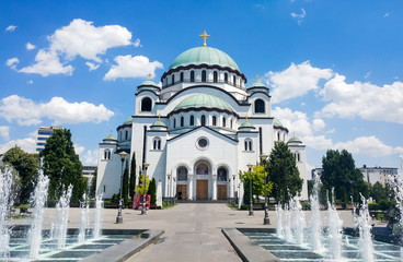 Poster Temple Church of Saint Sava in Belgrade, Serbia