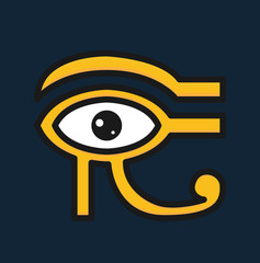 Eye of Horus icon. Egyptian sign. Vector stock.
