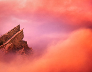 Wall Mural - Mountain Peak and Clouds