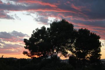 Sant Cugat (Barcelona, Spain) Sunset 2015