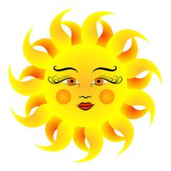 Sun vector illustration.