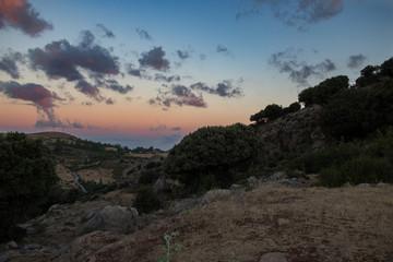 Sonnenuntergang in der Sierra Nevada, Spanien