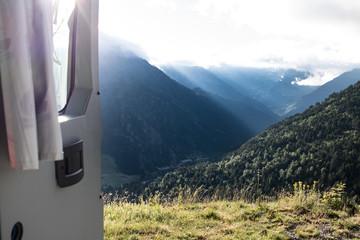 Guten Morgen vom Wildcampen in Andorra