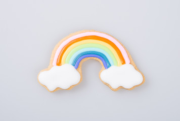 "cake decoration or cake decoration ""rainbow"" on a background."