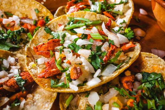 tacos al pastor is mexican food in mexico city