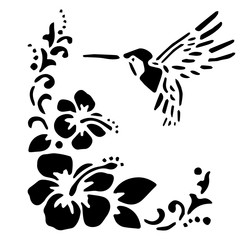 colibrí scena tropicale