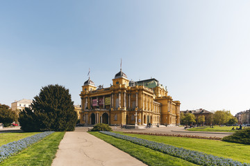 Kroatisches Nationaltheater in Zagreb, Kroatien