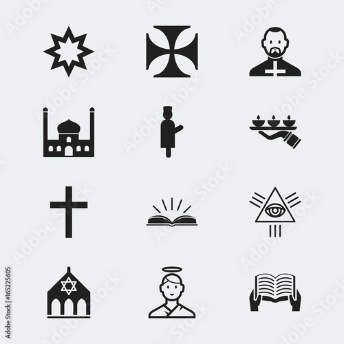 Set Of 12 Editable Dyne Icons Includes Symbols Such As Scripture