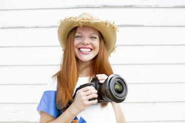 Fotografin junge Frau