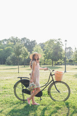 Pretty Bicycle Girl