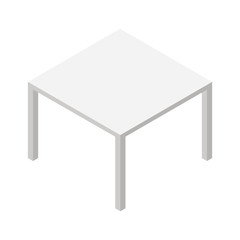 Isometric table isolated on a white background