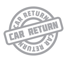 Car Return rubber stamp. Grunge design with dust scratches. Effects can be easily removed for a clean, crisp look. Color is easily changed.