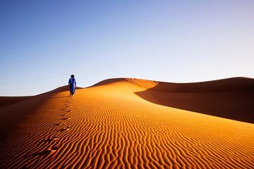 Canvas Prints Morocco Alone in Sahara, Morocco