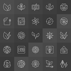 Biomass energy icons