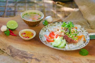 Com tam - Vietnamese broken rice with grilled pork chop