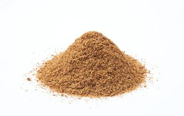 Fototapeta Heap of cumin powder on white background obraz