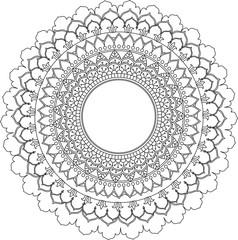 Decorative hand drawn mandala. Ethnic decorative elememt for design. I