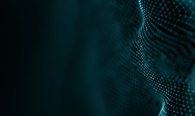Abstract Blue Geometrical Background . Futuristic technology style. Neon Sign . Futuristic...