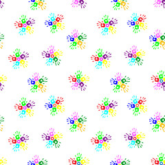 Seamless pattern with flowers of the children's prints
