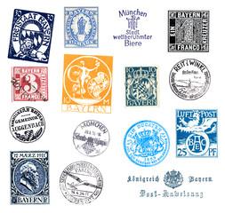 Briefmarken und Poststempel aus Bayern