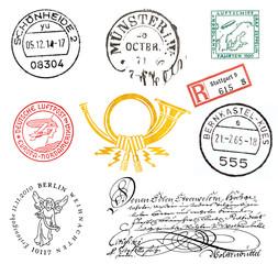 Briefmarken und Poststempel aus Deutschland