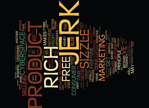THE NICHE JERK Text Background Word Cloud Concept