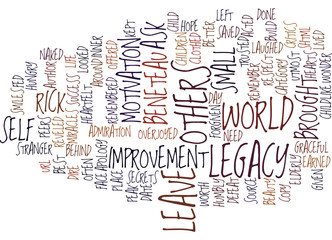THE LEGACY YOU LEAVE Text Background Word Cloud Concept