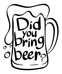 Word expression in beer mug