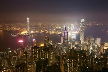 Night of hongkong china.