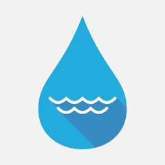 Isolated water drop with a water sign