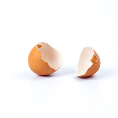 broken egg shell to made a food.