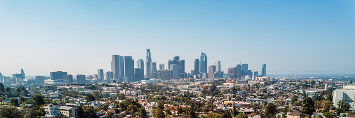 Spoed Fotobehang Los Angeles Los Angeles Drone View