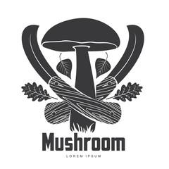 Mushroom logo templates