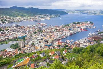 Blick auf Bergen, Norwegen
